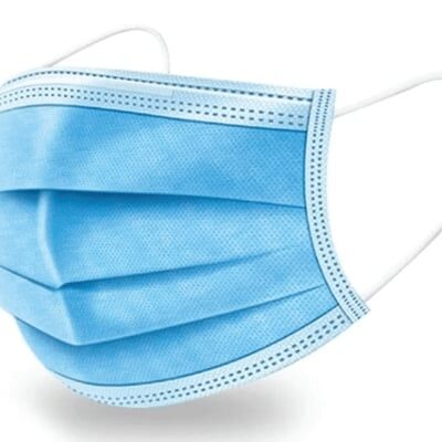 3 Ply Surgical Face Mask (50 Pcs) | Disposable Earloop Face Mask Blue