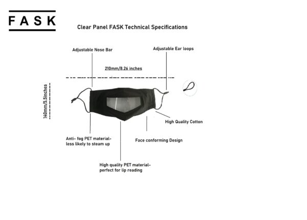 Technical Specification   Clear Panel Face Mask (FASK) UK