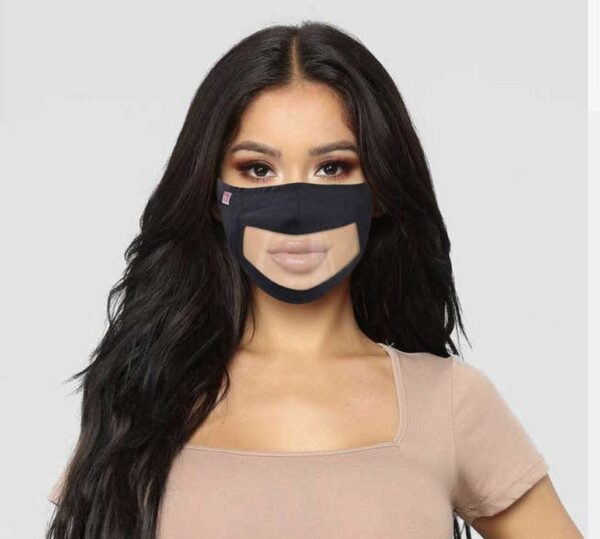 Clear Panel FASK | Washable & Reusable Clear Panel Face Mask Online