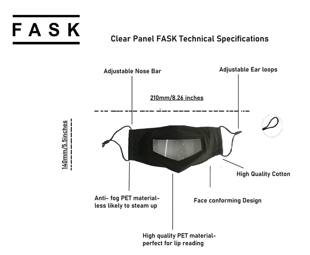 Technical Specification | Clear Panel Face Mask (FASK) UK