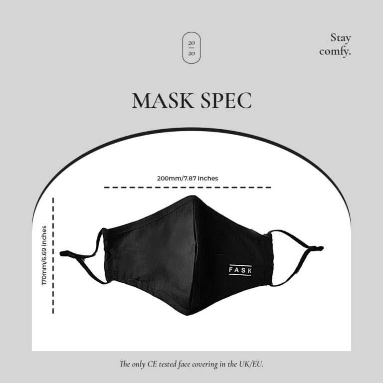 Mask Specification | Fask - 100% Cotton Face Covering Mask for Sale UK